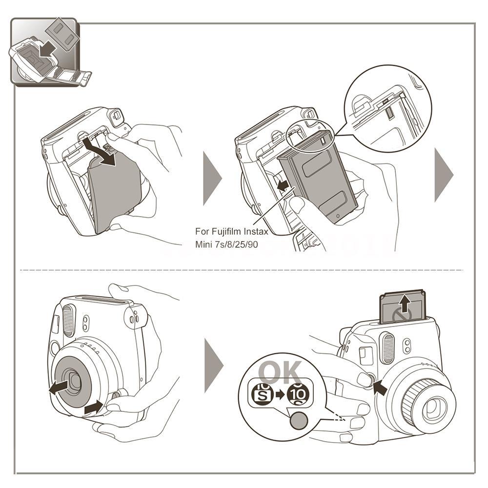 Fuji Instax 100 Bilder Mini Film Sofortbildfilm Doppelpack